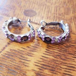 Sorrelli earrings purple.